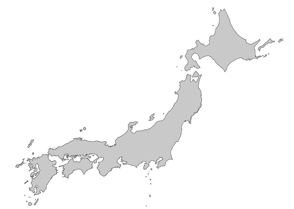 日本の各都市の方位